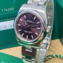 勞力士 Oyster Perpetual 26 鋼 26mm 紫色 阿拉伯數字