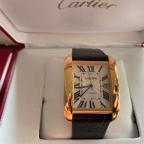 Cartier Tank Anglaise Pозовое золото 47mm Cеребро Римские