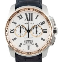 Cartier Calibre de Cartier Chronograph Gold/Steel 44mm Silver