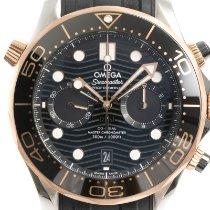 Omega Seamaster Diver 300 M nuevo 2021 Automático Cronógrafo Reloj con estuche y documentos originales 210.22.44.51.01.001