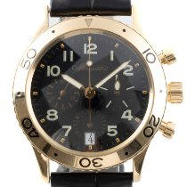Breguet Yellow gold Automatic Black 39.5mm pre-owned Type XX - XXI - XXII