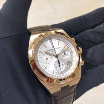 Vacheron Constantin Rose gold Automatic Silver No numerals 42.5mm new Overseas Chronograph