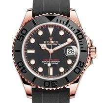 Rolex Yacht-Master 37 Rose gold 37mm Black No numerals