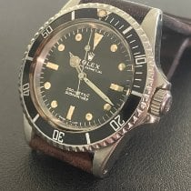 Rolex Submariner (No Date) pre-owned 40mm Black Leather