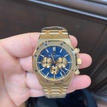 Audemars Piguet Rose gold Automatic Blue No numerals 41mm pre-owned Royal Oak Chronograph
