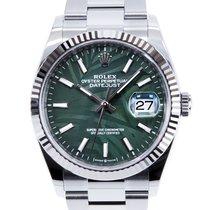 Rolex Datejust Acero 36mm Verde Sin cifras