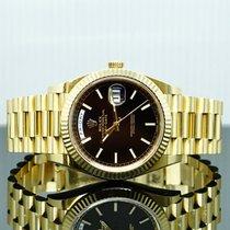 Rolex (ロレックス) デイデイト 40 中古 40mm ブラック 日付表示 イエローゴールド