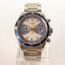 Tudor Heritage Chrono Blue nuevo 2021 Automático Cronógrafo Reloj con estuche y documentos originales 70330B