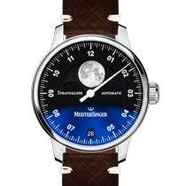 Meistersinger Lunascope Steel 43mm Blue