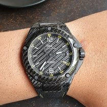 IWC Carbon Automatic Yellow Arabic numerals pre-owned Ingenieur Automatic