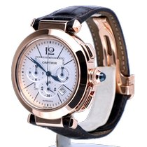 Cartier Pasha Rose gold 42mm Silver No numerals