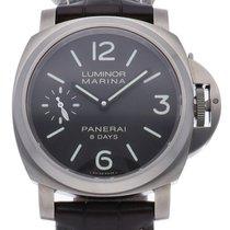 Panerai Luminor Marina 8 Days nieuw Handopwind Horloge met originele doos en originele papieren PAM00564