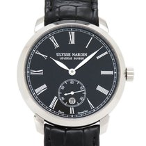 Ulysse Nardin Classico pre-owned 40mm Black Leather
