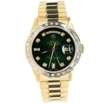 Rolex Day-Date 36 Yellow gold 36mm Green United States of America, New York, New York
