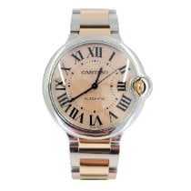 Cartier Ballon Bleu 36mm pre-owned 36mm Mother of pearl Gold/Steel