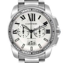 Cartier Calibre de Cartier Chronograph Steel 42mm Silver Roman numerals United States of America, Georgia, Atlanta