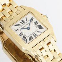Cartier Желтое золото Кварцевые Cеребро Римские 26mm подержанные Santos Demoiselle