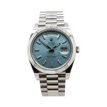Rolex Day-Date 40 подержанные 40mm Синий Дата Платина