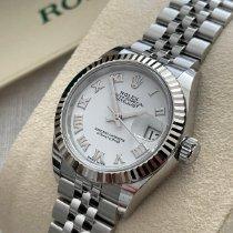 Rolex Lady-Datejust Stahl 28mm Weiß Römisch Schweiz, Basel