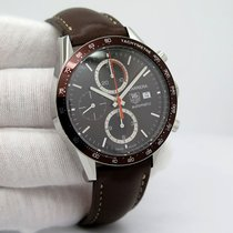 TAG Heuer Carrera Calibre 16 pre-owned Brown Leather