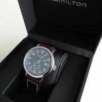 Hamilton Khaki Navy Pioneer Stahl Blau Arabisch