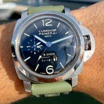 Panerai Luminor 1950 8天GMT钢44mm黑色阿拉伯数字美国,佛罗里达州,劳德代尔堡