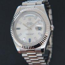 Rolex Day-Date II Witgoud 41mm Zilver Nederland, Maastricht