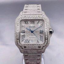 Cartier Santos (submodel) Steel 39.8mm Silver Roman numerals