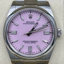 Rolex Oyster Perpetual 36 Acier 36mm Rose Sans chiffres