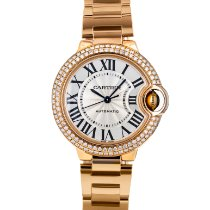 Cartier Ballon Bleu 33mm Rose gold 33mm Silver Roman numerals United States of America, Maryland, Baltimore, MD