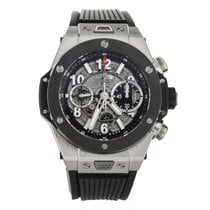 Hublot Big Bang Unico pre-owned 44mm Transparent Chronograph Date Rubber