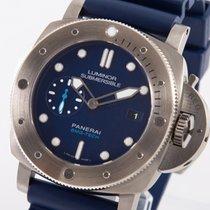 Panerai Luminor Submersible 1950 3 Days Automatic Titanio 47mm Azul Sin cifras