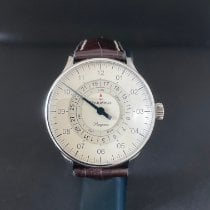 Meistersinger Steel Automatic Champagne Arabic numerals 40mm pre-owned Pangaea Day Date