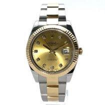 Rolex Datejust tweedehands 41mm Champagne Datum Goud/Staal