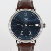 IWC Portofino Hand-Wound Steel 45mm Blue Roman numerals United Kingdom, holywell