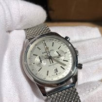 Breitling Transocean Chronograph 38 Staal 38mm Zilver Geen cijfers