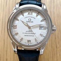 Omega White gold Automatic Silver Roman numerals 38mm pre-owned De Ville Prestige