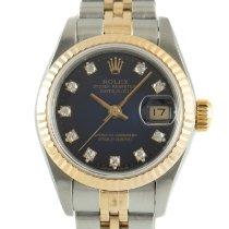 Rolex Lady-Datejust Złoto/Stal 26mm Niebieski