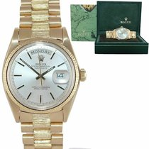 Rolex Day-Date 36 pre-owned 36mm Silver Yellow gold