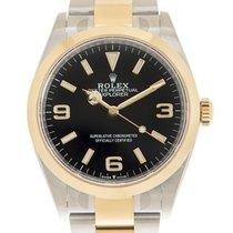 Rolex Explorer Acero y oro 36mm Negro Arábigos