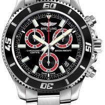 Breitling Superocean Chronograph M2000 nuevo Cuarzo Cronógrafo Reloj con estuche original A73310A8-BB72-160A
