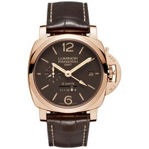 Panerai PAM 00576 Rose gold Luminor 1950 8 Days GMT 44mm pre-owned