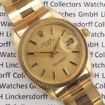 Rolex Oyster Perpetual Date Yellow gold 36mm Gold No numerals