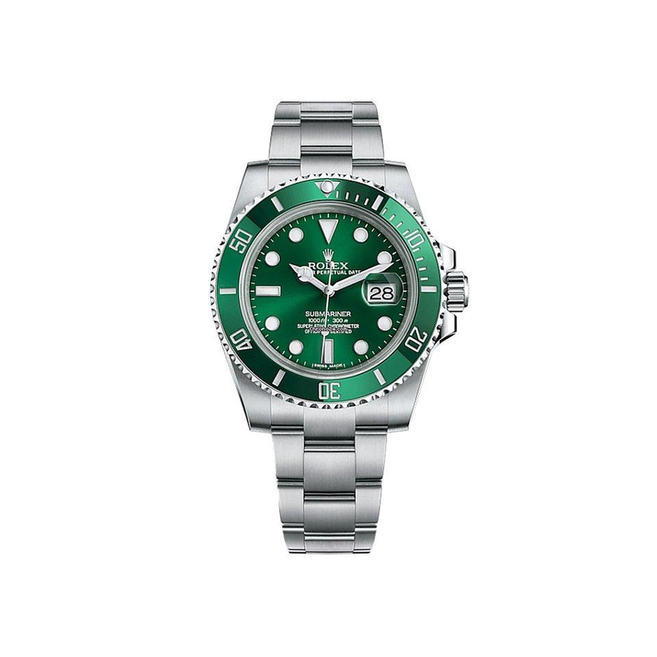 Rolex Submariner Date 116610LV Hulk 2018 pre-owned