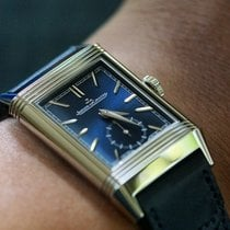 Jaeger-LeCoultre Reverso (submodel) pre-owned 45.6mm Blue Leather