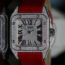 Cartier Santos 100 Stahl 38mm Silber Römisch