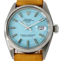 Rolex Oyster Perpetual Date Acciaio 34mm Blu Senza numeri