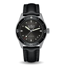 Blancpain Fifty Fathoms Bathyscaphe pre-owned 38mm Black Date Textile