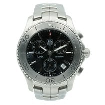 TAG Heuer Link Quartz pre-owned 42mm Black Chronograph Date Steel