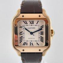 Cartier Pозовое золото Автоподзавод Cеребро Римские 35.1mm подержанные Santos (submodel)